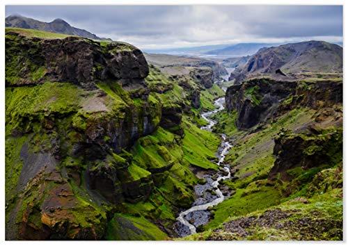 Panorama® Póster Islandia Círculo Dorado 70 x 50 cm   Láminas Decorativas Pared   Impreso en Papel 250gr   Cuadros Paisajes   Póster Naturaleza   Cuadros Decoración Salón