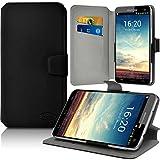 KARYLAX Seluxion - Housse Etui Porte-Carte Support Universel L Couleur Noir pour Smartphone Danew Konnect 601