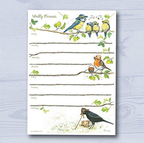 Padblocks Weekly Planner Notepad - Birdie Hats (min. 52 pages)
