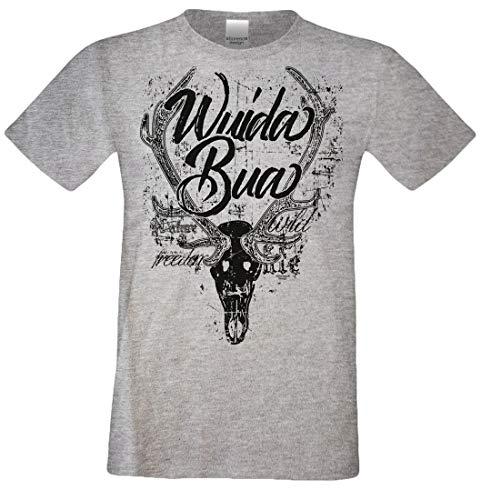 Soreso Design Bayerisches Trachten T-Shirt für Herren - Wuida Bua - Uriger Dialekt Spruch für Oktoberfest und Volksfest, Größe:XL