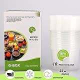 (10-Pack/16oz) Round Food Storage Contai...