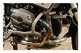 MotorbikeComponents, Paracilindri-paramotore tubolare in ferro verniciato Argento - BMW R 1200 Gs / Adventure 2004