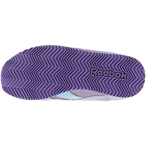 Reebok Royal Cljog 2 2v, Scarpe da Corsa Bambina Multicolore (Morado / Azul / Blanco (Smoky Violet/Blue Splash/White))