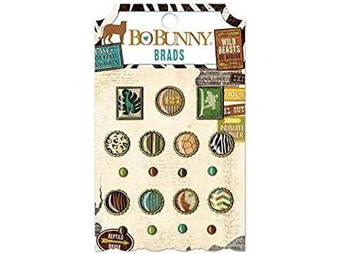 BoBunny Safari Brads Scrapbook Embellishments by Bo Bunny