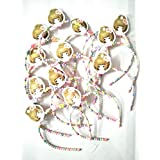 My Party Store DOT COM Cute Stylish Beaded Hair Head Bands For Girls/Kids (Pack Of 6) Multicolour For Durga Pooja, KANJAK, Navratri, Birthdays And Parties