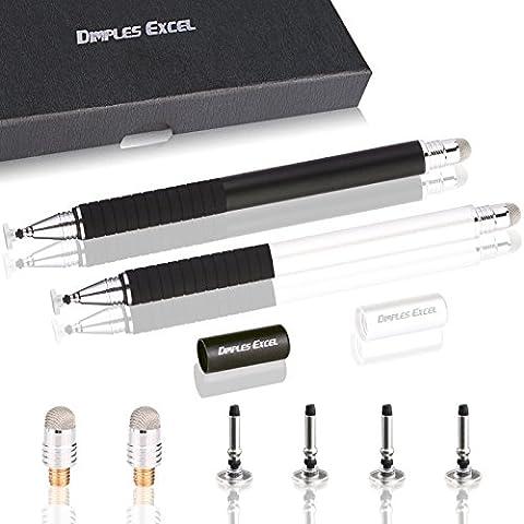 Dimples Excel Stylus Pen Stylet 2-en-1 Précision Extrême: Stylet pour