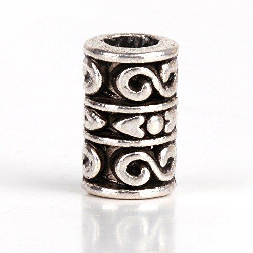 rubyca 30/50tibetischen Perlen Distanzhalter Silber Armband passend für europäische Charms verschiedene design-2, metall, Model 26, 30 PCS (Floral Cross Kit)