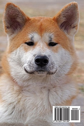 The Akita Dog Journal: 150 page lined notebook/diary