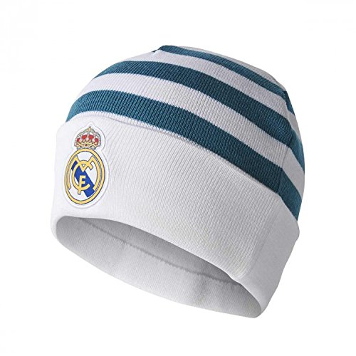 adidas Real 3S Woolie Gorro, Hombre, Blanco, Talla Única