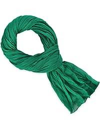 Chèche coton vert menthe uni