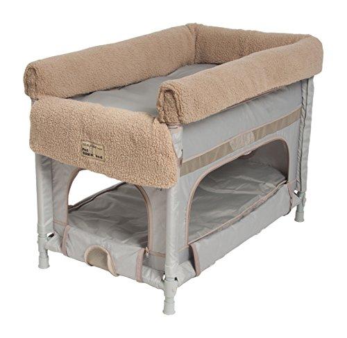 Arme erreichen Concepts INC. Medium Duplex Pet Etagenbett–Grau w/Camel Liner (Erreichen Arme)