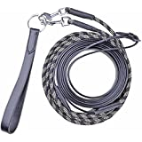 Black or Brown in Pony or Cob//Full Size HKM Leather /& Rope//Bungee Draw Reins
