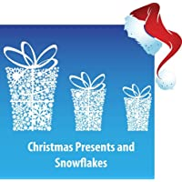 Aurum92 Snowflake Presents Window Stickers/Clings for Christmas - New