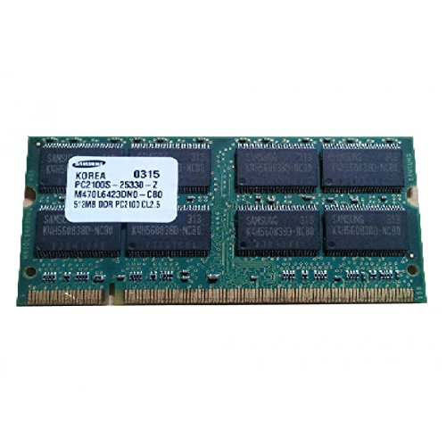 512MB Ram Laptop SODIMM Samsung m470l6523dn0-cb0DDR1pc-2100266MHz -