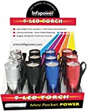 Infapower F006 9-Led Mini Pocket Torch - Pack of 12