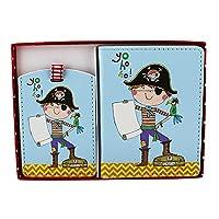 Rachel Ellen Collection Passport & Luggage Tag - Pirate Design