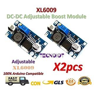 2pcs XL6009 DC-DC Booster module Power supply adjustable Super LM2577 step-up   2pcs einstellbarer gestufter Boost Power Converter Modul Ausgangsspannung von XL6009 DC zu DC 3.0-30V zu 5-35V