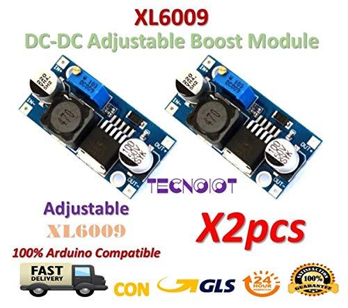 TECNOIOT 2pcs XL6009 DC-DC Booster Module Power Supply