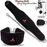 Dip-Gürtel Gewichtheben Dip Neopren Gürtel chrom Kette Gym Rückenstütze