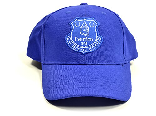 Everton Football Club Official Royal Blue New Crest Adjustable Cap Crest Badge