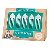 Jamie Oliver Käsegabel-Set, 5-TLG, Gabel für Käse, Fingerfood, Edelstahl, 7 x 3 cm, 555151
