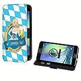 deinPhone Samsung Galaxy S5 Mini Kunstleder Flip Case Wiesn Mädel