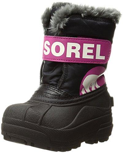Sorel Unisex-Kinder Childrens Snow Commander Schneestiefel Schwarz