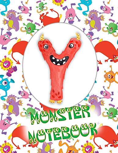 Y Monster Notebook: Kids Monogrammed Journal and Doodle Book