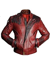 Guardians Of The Galaxy 2 Star Lord Maroon Real Leather Jacket