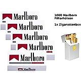 1.000 Marlboro Rot Filterhülsen + hochwertige Zigarettenbox