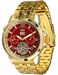 Lindberg & Sons Reloj Automático piraeus Acero/rojo/oro