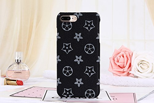iphone6splus TPU (Fast bieten Uns Garantie FBA) Neuen Eleganten Luxus PU Leder Monogramm Muster Classic Style Schutzhülle für Apple iPhone 6/6S Plus, iPhone6sPlus Monogram Black