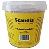 Schamottmörtel 2 kg Scandia Schamottemörtel zum Kamin oder Kachelofen ausmauern