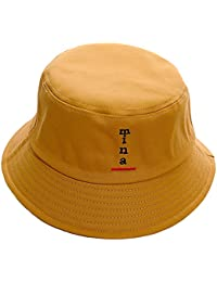 0b63645c16c237 AJON Cotton Bucket Sun Hat Visor Protection Hats Letters Embroidery  Harajuku Fisherman Cap