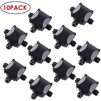 10 x Junction boxes 65 x 35mm weatherproof IP44 15 amp cable connector blocks