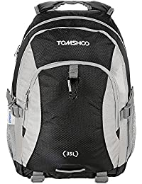 Black: TOMSHOO 35L Outdoor Sport Backpack Rucksack Nylon Pack Travel Bag