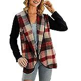 WOZOW Cardigan à Manches Longues en Tricot Rayures Décontractées pour Femmes Garder Au Chaud Le Manteau(Kaki,XL)