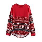 TianWlio Hoodie Pullover Damen Sweatshirt Langarmshirt Bluse Kapuzenpullover Fitness Buchstabe Frohe Weihnachten Langarm-lose Tops Bluse T-Shirt Hoodies