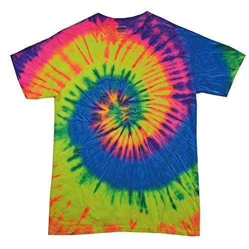 Colortone Kinder Batik T-Shirt 'Swirl'/Neon Rainbow, XS -