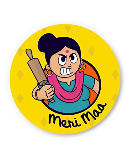 Gifts for Mom on Mother's Day, Birthday or Anniversary | My Mom | Meri Maa Cute Funny Fridge Magnet by PosterGuy  available at amazon for Rs.199
