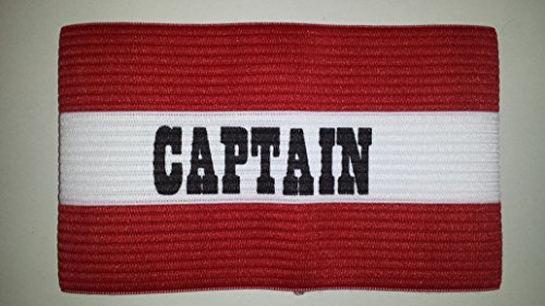 Captains Armband for Football  Rugby  Hockey  Red  Junior