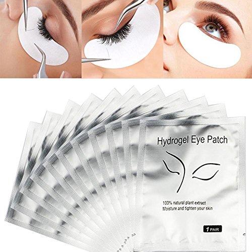 Wimpernauflage, 50 Paar Set Professionelle Gel Augenklappe Wimpern Transplantation Wimpern Pad Spezialpolster für Wimpernverlängerung Augenmaske Schönheit Werkzeug