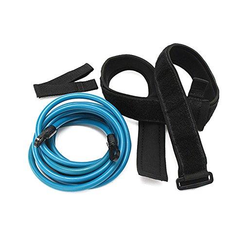 PerGrate Erwachsene Kinder 4m Schwimmen Bungee Exerciser Leine Cord Training Rope Hip Schwimmgurt Sicherheit Pool