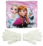 Frozen - Die Eiskönigin Kollektion 2017 Snood Schlauchschal Schal und Handschuhe 5-8 Jahre One Size Loop Kragenschal mit Fleecefutter Anna und ELSA (5-8 Jahre)