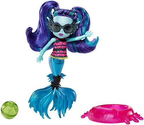 Monster High FCV67 - Monster Family Strandspaß! Lagoonas Schwester Ebbie, blau (Lagoona Monster High)
