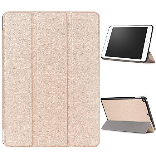 """WindTeco Hülle für Neu iPad 9.7 Zoll 2017 - Ultra Dünn Slim-Fit Smart Hülle Schutzhülle Tasche mit Einschlaf / Aufwach Funktion für New Apple iPad 9.7"""" IOS 10 Retina Display Tablet, Gold"""