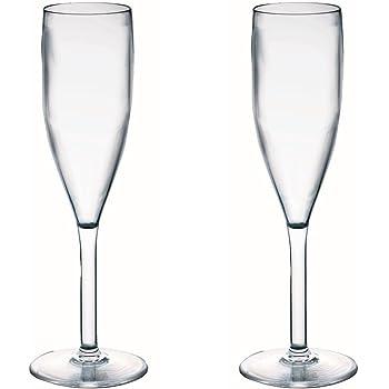 6968d34395e355 Viva Haushaltswaren - 2 x bruchfestes Sektglas 190 ml ...