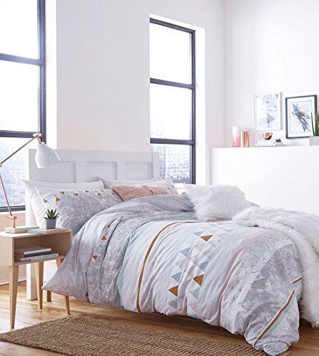 Catherine Lansfield Marmor Reichhaltige Bettbezug-Set, Polyester-, Multi, Doppel (Aqua King-size-bettwäsche)