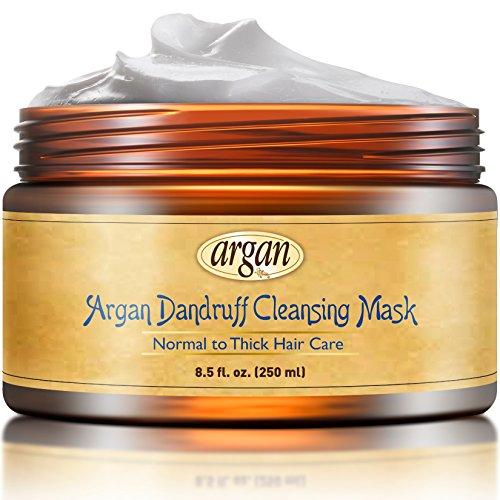 Vitamins Masque Anti Pellicule & Soin Intense Réparateur Apres Shampoing à l' Huile d'Argan. Traite cheveux abimé (Normaux - Epais, Afro)
