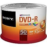 100 Sony DVD-R 16X 4.7GB Recordable Blank Media Disc Wrap Full Logo Surface 2x50 Pk